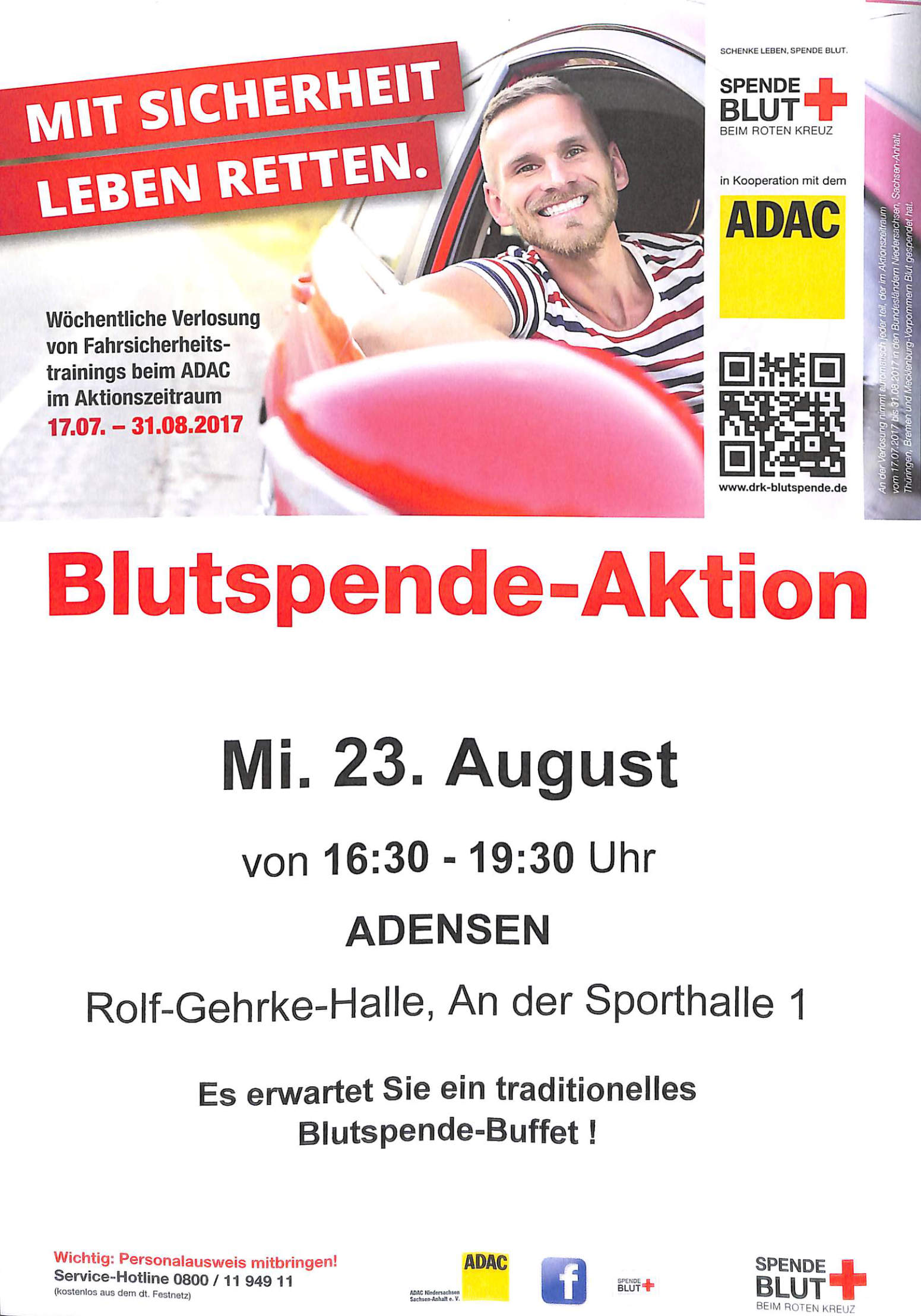 Blutspende am 23.08.17 in Adensen