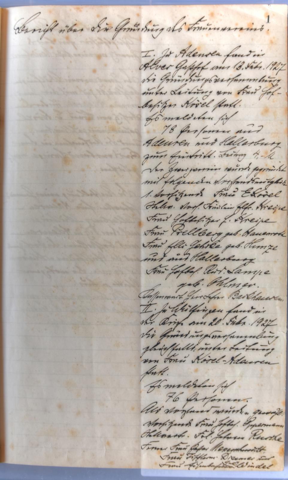 Tagebuch DRK 90 Jahre