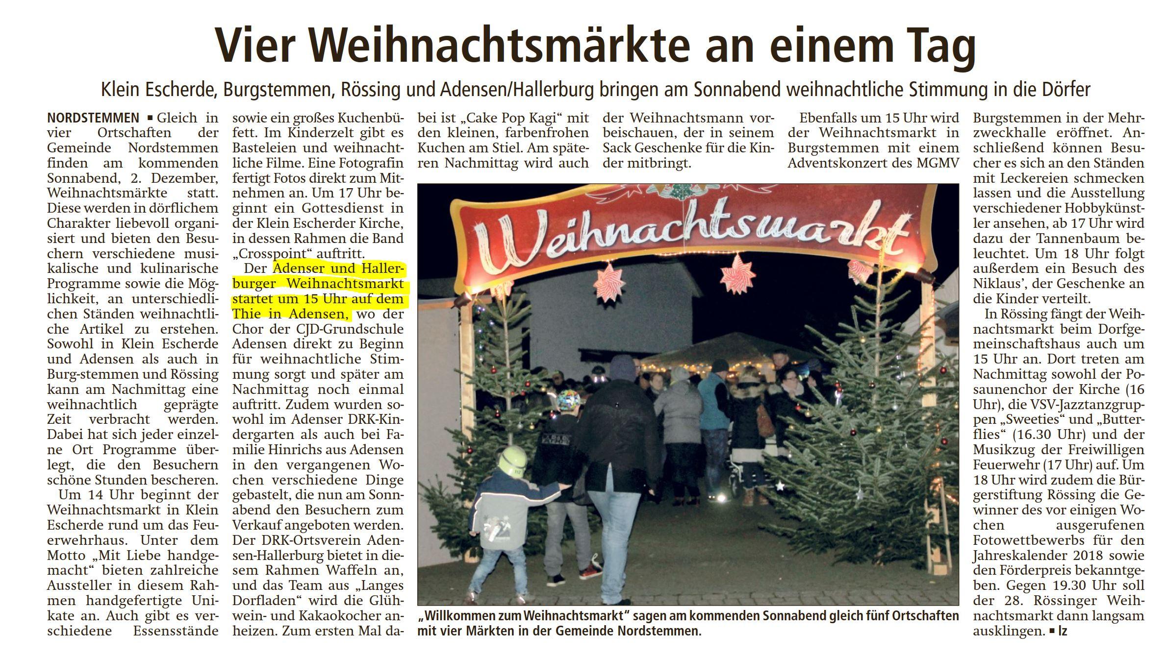 20171129_LDZ Weihnachtsmärkte Nordstemmen marked